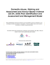 Domestic Abuse, Stalking and Harassment and Honour Based Violence Risk Identification and Assessment and Management Model (DASH)