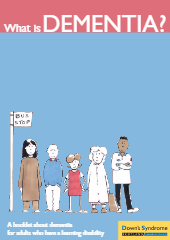 What is dementia Booklet about dementia for adults who have a learning disability or young children-thumbnail