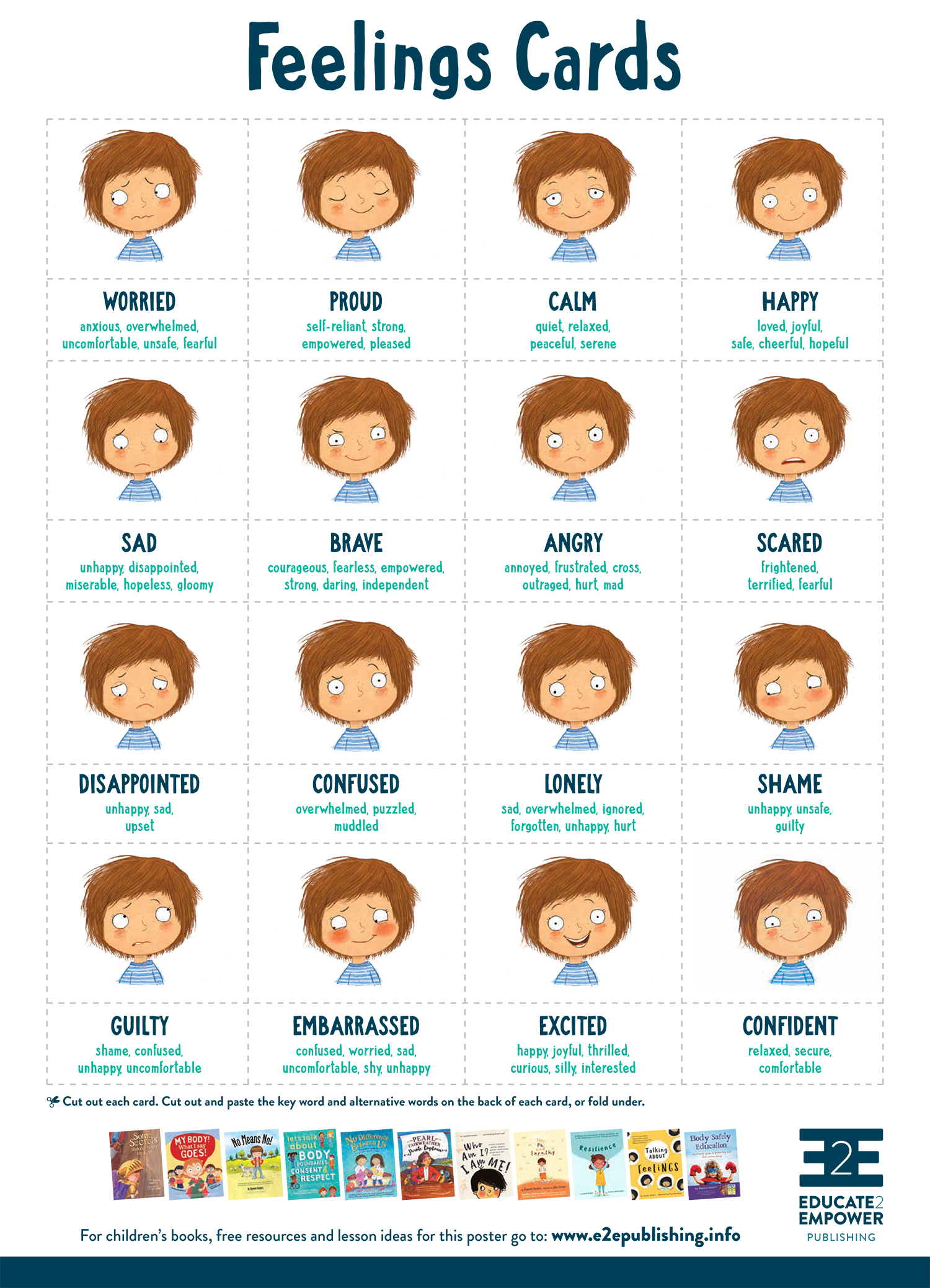 It's just a graphic of Clean Printable Emotion Cards